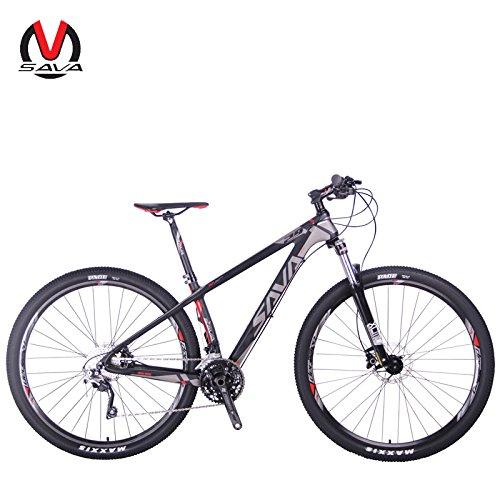 """Sava DECK300 27.5""""/29"""" Bicicleta de Montaña de Fibra de Carbono 30S Shimano M610 Hard Tail Bicicleta SR SUNTOUR Horquilla de Suspensión Mountain Bike Michelin Neumáticos"""
